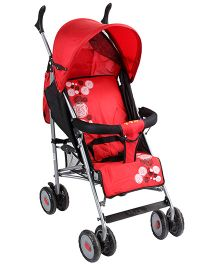 Lightweight Stroller Circle Print - Red