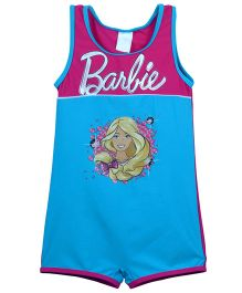 Barbie Sleeveless One Piece Swimsuit - Pink And Blue