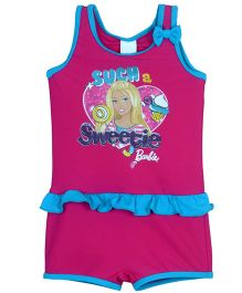 Barbie Sleeveless One Piece Swimsuit - Pink