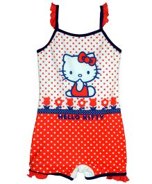 Hello Kitty Singlet Polka Print Swimsuit - Multicolor