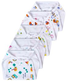 Babyhug Interlock Fabric Nappy With String Tie Up Large White - Pack Of 5