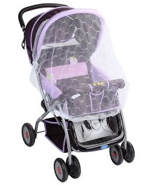 Baby Stroller With Mosquito Net Fruit Print - Violet