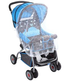 Baby Stroller With Mosquito Net Fish Print Blue And Black - 709A