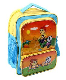 Fafa & Juno School Bag Yellow And Blue - 16 Inch