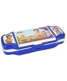 Chhota Bheem Plastic Pencil Box - White And Blue