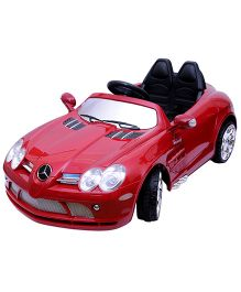 Happy Kids Battery Operated Mercedes Benz SLR McLaren Ride-On Car with Remote Control - Red