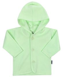 Child World Full Sleeves Hooded Vest - Green