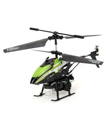Modelart Remote Controlled Heli With Bubble Blower - Green