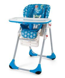 Chicco Polly 2 In 1 High Chair Moon - Blue