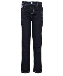 Tales & Stories Jeans Contrast Thread Detail  - Black