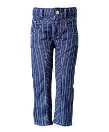 Tales & Stories Striped Trouser - Dark Blue
