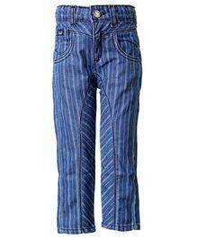 Tales & Stories Striped Trouser - Light Blue