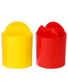 Oddy High Quality Plastic Tumbler Red And Yellow - Set Of 2