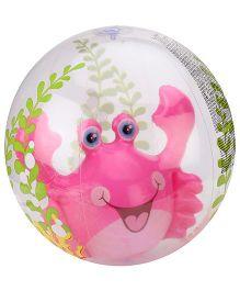 Intex Aquarium Beach Ball Lobster Print - Pink
