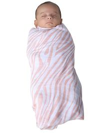 Kaarpas Premium Muslin Large Swaddles Pack of 2 - Celebrations and Pink Zebra