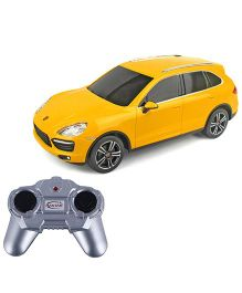 Rastar Toyhouse Radio RC Porche Cayenne Turbo Scale Model Car - Yellow