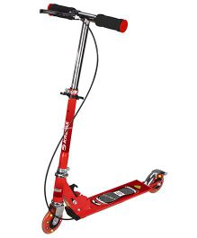 Toyhouse Two Wheeled Metal Folding Skate Scooter With Hand Brake - Red