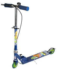 Toyhouse Two Wheeled Metal Folding Skate Scooter With Hand Brake - Blue