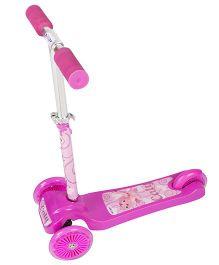 Toyhouse Lean to Steer Three Wheel Skate Scooter Cat Print - Pink