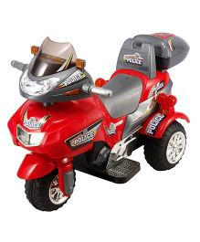 Toyhouse Thunder Patrol Bike 6 V Rechargeable Battery Operated Ride On - Red
