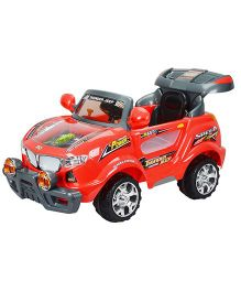 Toyhouse Thunder Jeep 6V Rechargeable Battery Operated Ride On SUV - Red
