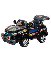 Toyhouse Thunder Jeep 6V Rechargeable Battery Operated Ride On SUV - Black