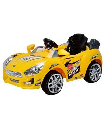 Toyhouse Hot Racer Car 6V Rechargeable Battery Operated Ride On - Yellow
