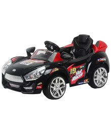 Toyhouse Hot Racer Car 6V Rechargeable Battery Operated Ride On - Black