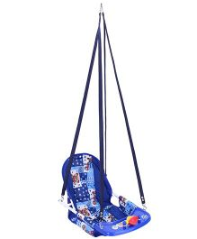 New Natraj Cozy Swing Deluxe Multi Print - Blue
