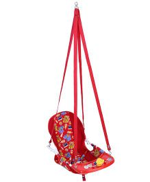 New Natraj Cozy Swing Deluxe Animals Print - Red