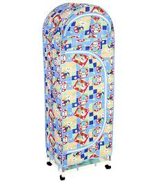 New Natraj Jumbo Toy Box With Wheels Teddy Bear Print - Blue