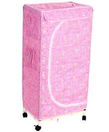 New Natraj Toys Storage Unit With Wheels - Pink