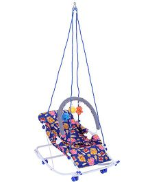 New Natraj Rocko Swing With Play Toys Multi Print - Blue