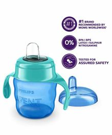 Avent Classic Spout Cup With Handles Blue - 200 ml