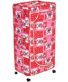 New Natraj Toys Storage Unit With Wheels - Red