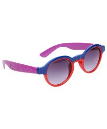 Kids Sunglasses Oval Frame - Blue And Red