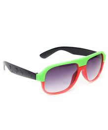Kids Sunglasses Square Frame - Green And Red