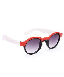 Kids Sunglasses Round Frame - Red And Black