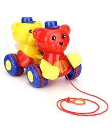 Ratnas Pull Along Teddy - Muti Color