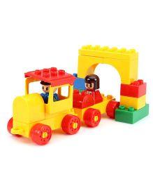 Virgo Toys Play Blocks Locomotive Set - yellow And Red