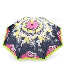 Babyhug Umbrella With Print - Light Green