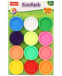Fun Dough Funskool Fun Pack - 12 Colors