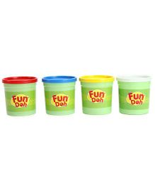 Funskool Fun Doh Jumbo Pack Of Color Fun Doh - 4 Color