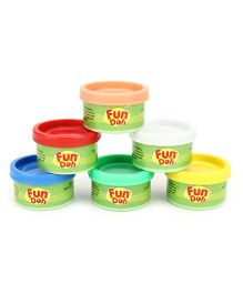 Fun Dough Funskool Mini Fun Pack Of 6 - Multi Color