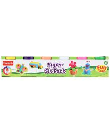 Fun Dough Funskool Super Six Pack Of Color Fun Doh - 6 Colors