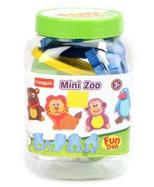 Fun Doh Funskool Mini Zoo - Multi Color