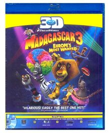 Madagascar 3 Europe's Most Wanted 3D Blu-ray Disc - English