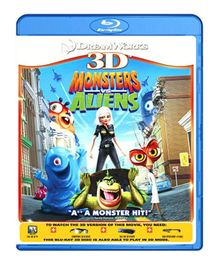 Monsters Vs Aliens 3D Blu-ray Disc - English