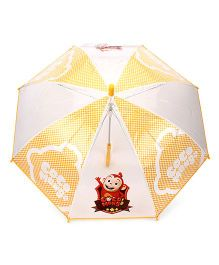 Babyhug Kids Umbrella Coco Mong2 Print - Yellow