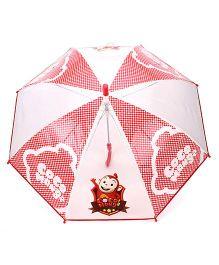 Babyhug Kids Umbrella Coco Mong2 Print - Red